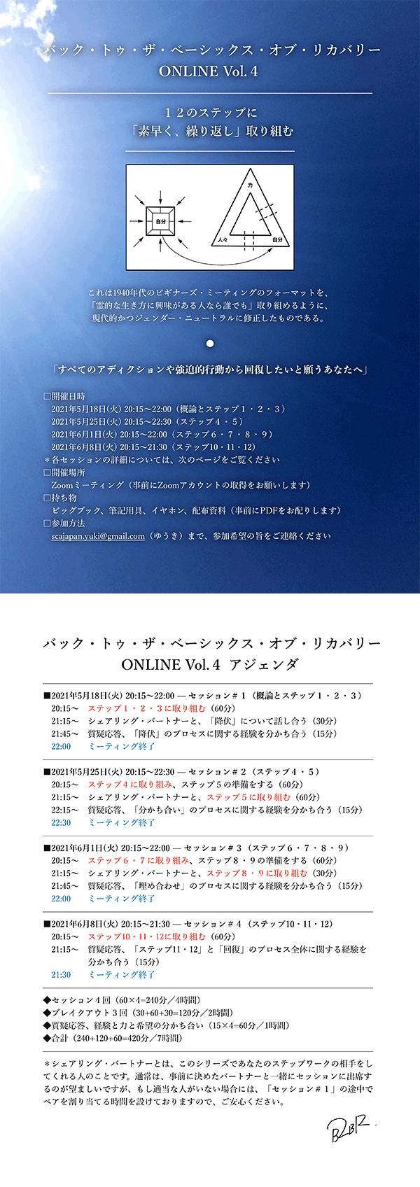 バック・トゥ・ザ・ベーシックス・オブ・リカバリー ONLINE Vol.4